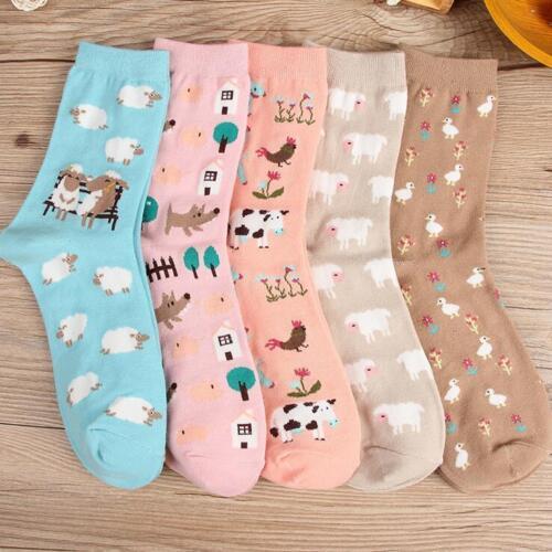 Autumn Winter Women Ladies Girls Boy Cute animal warm Cotton socks Comfortable