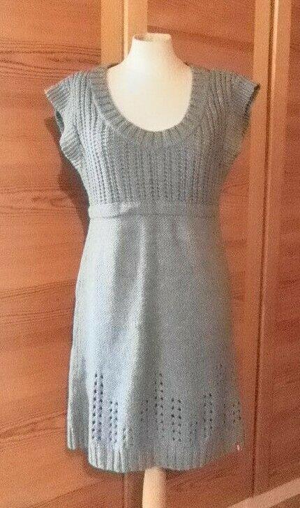 2019 Neuer Stil Edc By Esprit Kleid Strickkleid Lochstrickmuster Größe L Nw