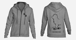 Exclusive Dogeria Design, Radient Cairn Terrier Full Zipped Dog Breed Hoodie Activewear