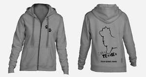 Radient Cairn Terrier Full Zipped Dog Breed Hoodie Dogs Cairn Terrier Exclusive Dogeria Design,