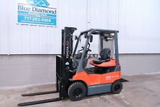2015 Toyota 7fbh15 3000 Pneumatic Electric Forklift 48 Volt Triple Ss