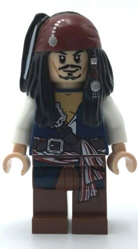 LEGO CAPTAIN JACK SPARROW MINIFIGURE PIRATES OF THE CARIBBEAN FIGURE