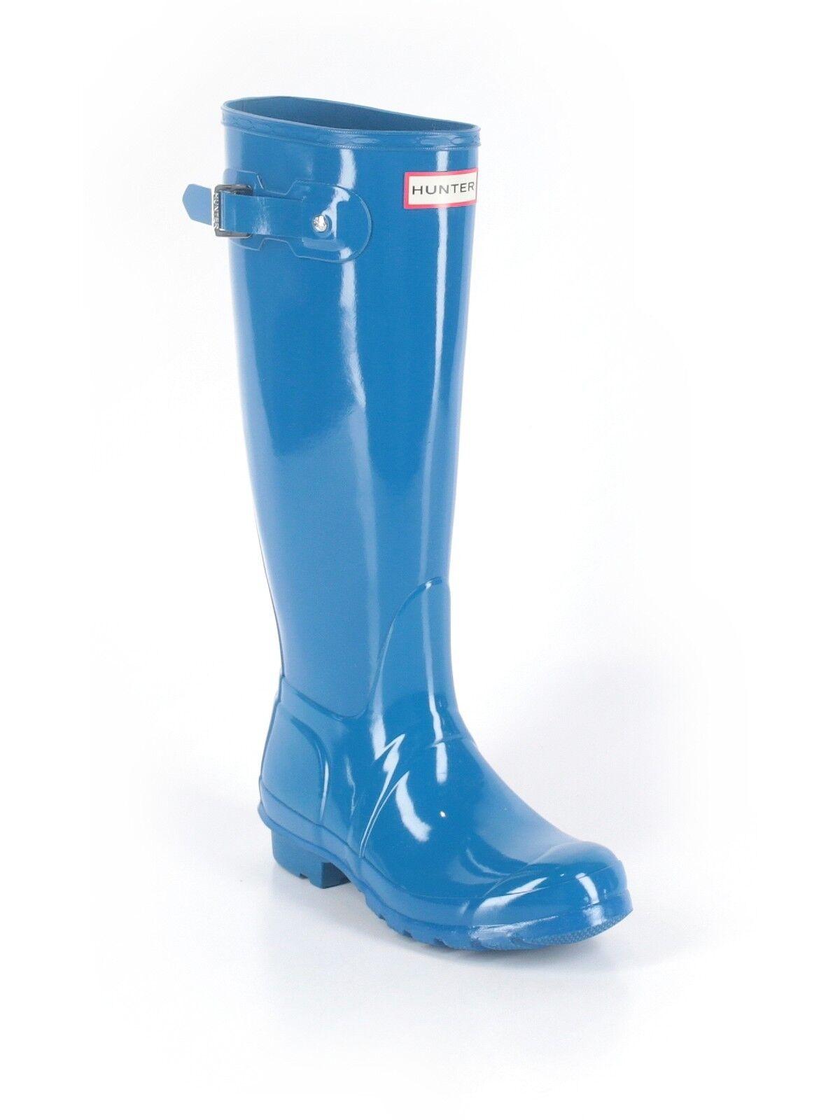 supporto al dettaglio all'ingrosso donna donna donna Bright  blu Original Tall Hunter Gloss Rain stivali Wellies Dimensione 6F 6 37  con il 100% di qualità e il 100% di servizio