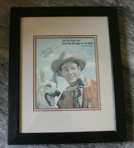 Vintage Roy Rogers Signed Color Photo Picture Autographed Framed
