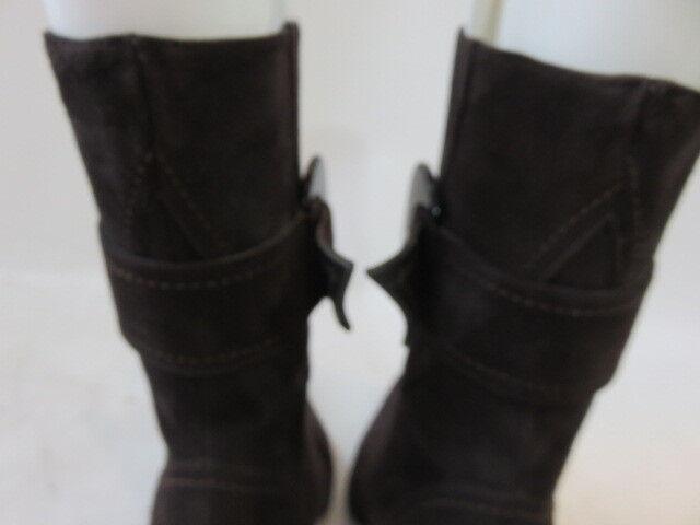 CLAUDIA CIUTI Braun Suede Buckle and Zipper Up Boot Größe 7.5