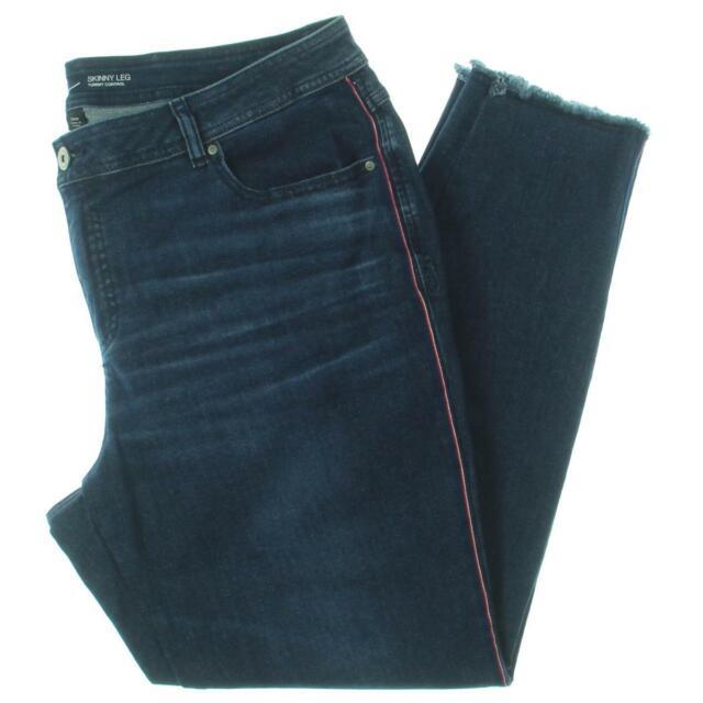 INC Womens Denim Tummy Control Ankle Skinny Jeans Plus BHFO 3590