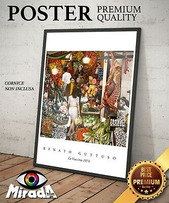 OFFRE DE PEINTURE Renato Guttuso la Vucciria marché Palerme Imprimé Toile Canvas