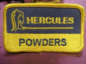 Vtg NOS HERCULES POWDERS Gun Reloading Ammo Advertising Patch O00S