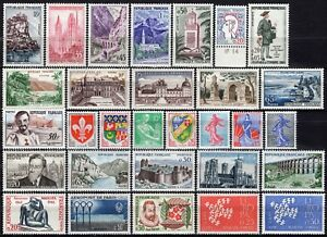 1812-Francia-Lotto-di-30-francobolli-1957-61-Nuovi-MNH