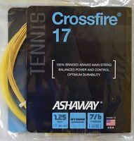 Ashaway Crossfire 17 Tennis String Hybrid Technology 17 Gauge 1.25 Mm