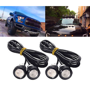 4Pcs New Yellow LED Light Style Grille Light 23mm For Ford F150 Raptor 2009-2015