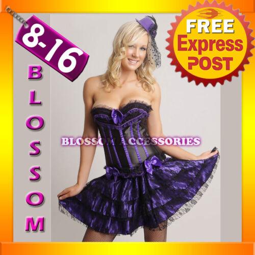 7206 Burlesque Gothic Lollita Corset /& Skirt 8 10 12 14