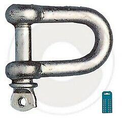 cf 2 pz grillo dritto U acciaio zincato chiusura a scatto morsetto per funi 8 mm