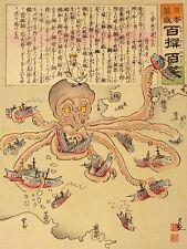 ADVERT WAR RUSSO JAPANESE NAVAL BATTLE JAPAN TENTACLE ART POSTER PRINT LV7093