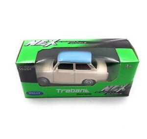 Trabi-Trabant-Rda-Vehicule-Beige-Emballage-D-039-Origine-Modele-Auto-Masstab-1-60