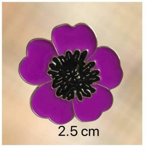 Glasses Holder Glitter NEW Animal Purple Poppy Lapel Pin Badge Brooch
