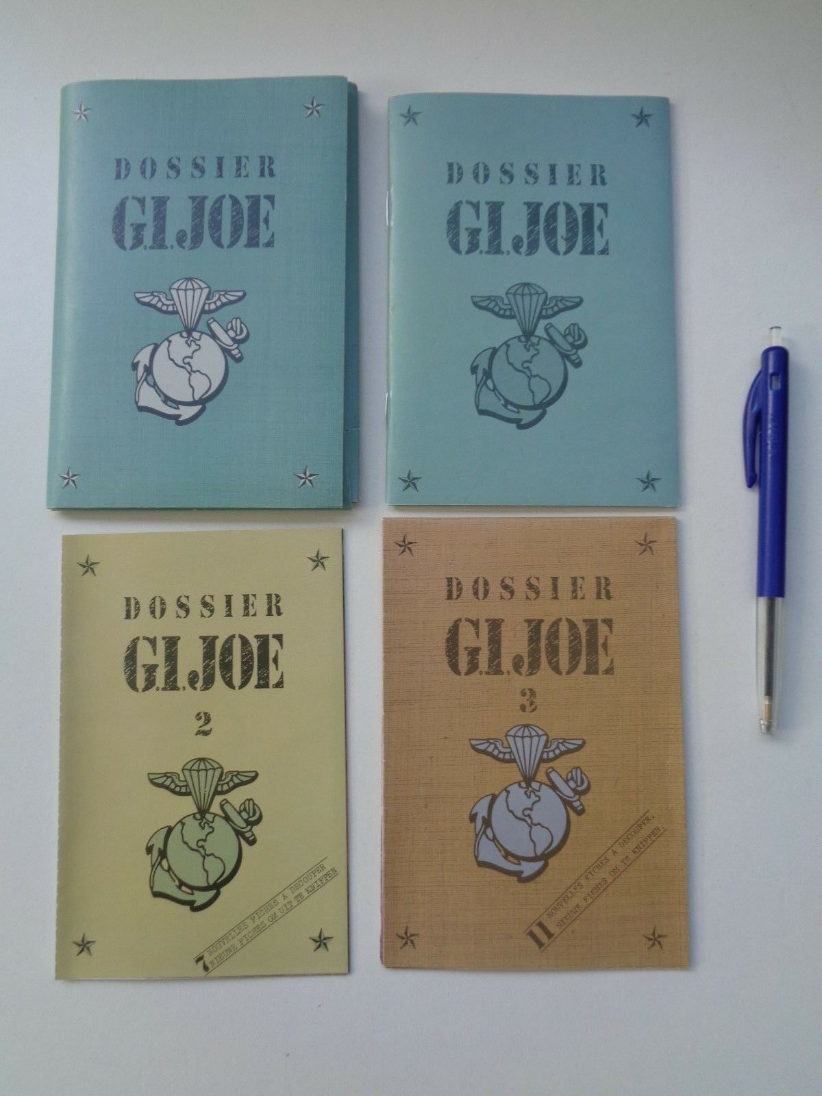 Gi - joe belgischer katalog ordner broschüre fan club dossier 1,2,3 komplette fr   nl