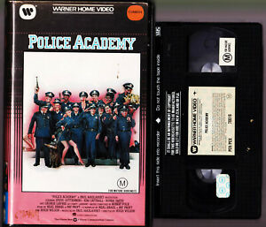 POLICE-ACADEMY-KIM-CATTRELL-CLAMSHELL-VHS-Video-Tape-Vintage