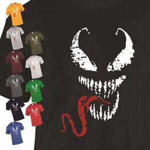 Marvel-Spideman-Venom-Face-Red-Tongue-Mens-T-Shirt-Gift-Deadpool-Unisex-T-shirt