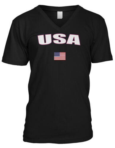 United States USA Country Pride Patriotic Freedom America Mens V-neck T-shirt