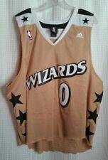 6c58e49c8635 Gilbert Arenas Washington Wizards  0 NBA ADIDAS Swingman Gold 2XL