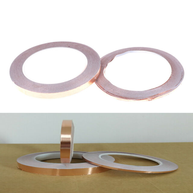 1 Roll 3mm*25M Copper Foil Tape Adhesive Single Conductive EMI Shielding Mask TB