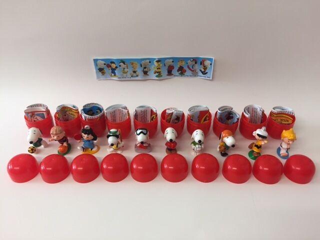Kinder Surprise Snoopy 2 Peanuts Sport Set 10 BPZ Toys JAPAN 2002 VERY RARE