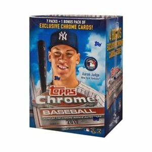 2017-Topps-Chrome-Baseball-Blaster-Box-Factory-Sealed-BENINTENDI-BELLINGER-JUDGE