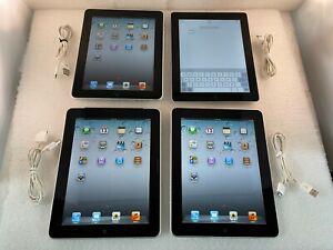 Lot of 4 Apple iPad 1st Gen A1219 2nd A1395 A1337 WiFi Black 32GB 16GB 9.7in R7