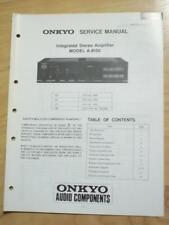 Original Onkyo Service Manual for the A-8150 Amp Amplifier~Repair
