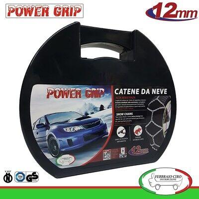 Catene da Neve Power Grip 12mm SUV Gruppo 235 per gomme 215//55r18 Nissan Qashqai