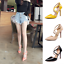 Fashion Women/'s Pointy Toe Pumps Strap Cutout Lace Up Stiletto High Heel Shoes