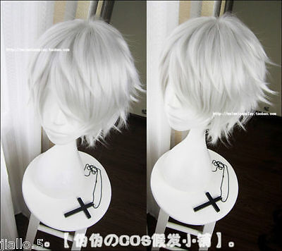Tokyo Ghoul Cosplay Wig Silver White Short Straight hair Wig Z3332