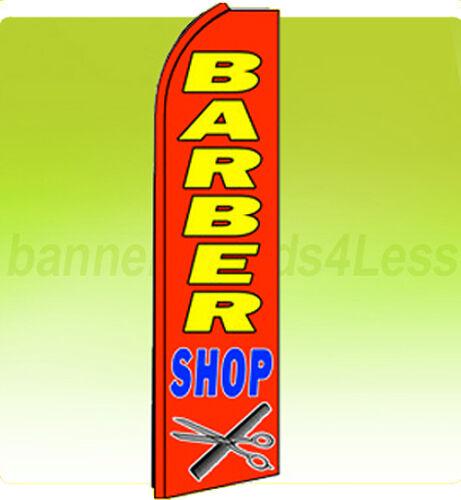 Swooper Flag Feather Flutter Tall Banner Sign 11.5 ft BARBER SHOP rq