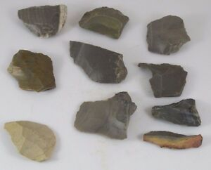 Indian Artifacts Ten Stone Tools Jz 0719 Ebay