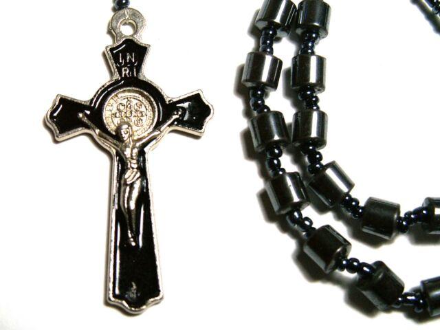 Rosary - hematite Beads Rosary Prayer Necklace - black hematite necklace