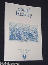 Social History-Sociology-Volume 24, No. 3-October 1999 - Social Studies Magazine