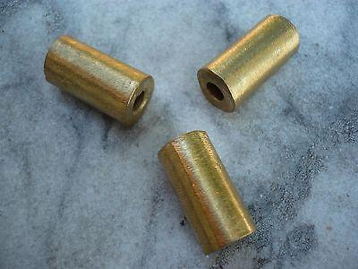 3 Stück Perlen Messing Ghana Ashanti Röhre glatt 27 x 13 mm lost wax method