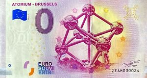 BILLET-0-EURO-ATOMIUM-BRUSSELS-BELGIQUE-2018-NUMERO-24