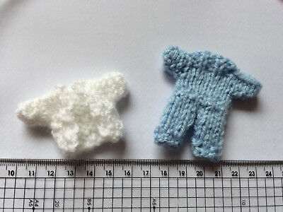 baby boy mini suit cardigan /& dungarees Card craft Embellishments  Knitted