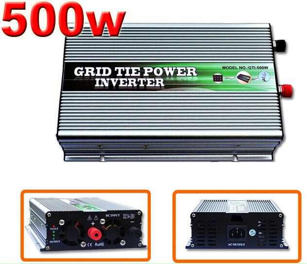 500W 14-28V DC Solar Micro Grid Tie Inverter,Pure sine wave, for 12V Solar Panel