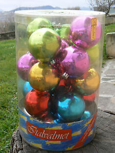 NUOVO Italvalmet 24 sfere palle di Natale infrangibili 1049