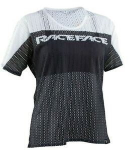 Race-Face-Women-039-s-Maya-Mesh-Jersey-Medium-Black-White