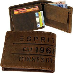 ESPRIT-est-1968-Branding-Logo-Herren-Geldboerse-Geldbeutel-Portemonnaie-Boerse