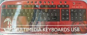TECHMADE TASTIERA KEYBOARD USB MULTIMEDIALE UFFICIALE AC MILAN