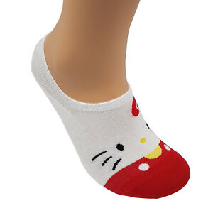 Soft Ankle Casual Rosso Cut Kitty Lotto Hello antiscivolo Low Piumino Socks Women qfTw6X