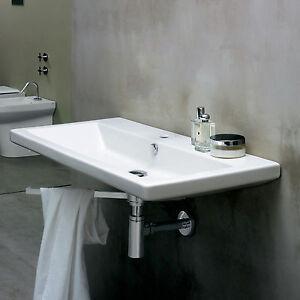 Lavabo sospeso 75 cm azzurra ceramica serie thin arredo for Arredo bagno sospeso
