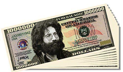 Novelty Million Dollar Bill Jerry Garcia Grateful Dead Set of 100