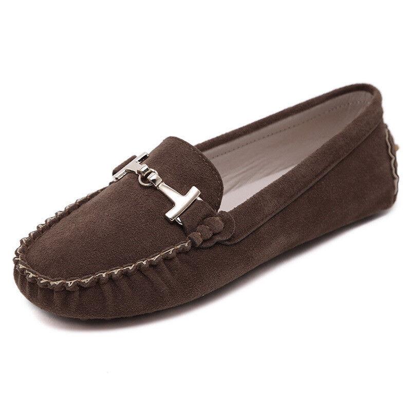 Ballerines mocassins chaussures pour femmes élégant confortable beige comme cuir