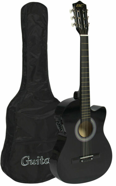 sky electric acoustic guitar cutaway design with case for sale online ebay. Black Bedroom Furniture Sets. Home Design Ideas